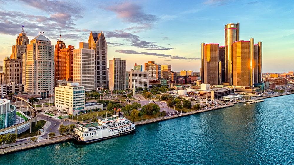 Detroit, Michigan skylines
