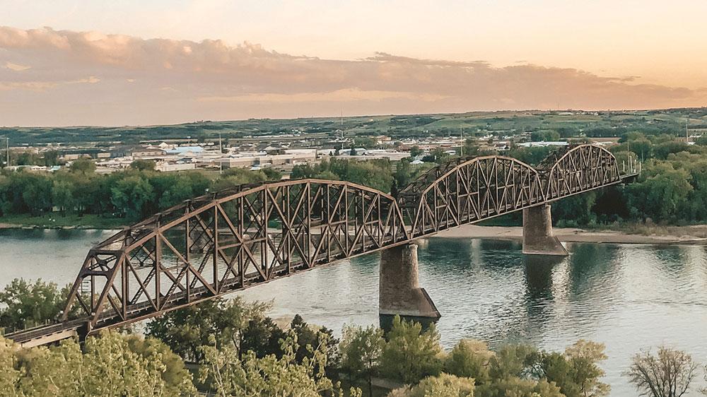 Bismarck, North Dakota aerial shot