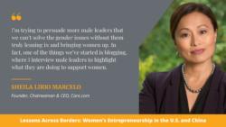 A graphic containing a photo of Sheila Lirio Marcelo