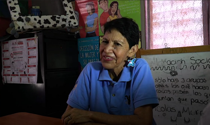 A screenshot from the oral history of Marta Velásquez.