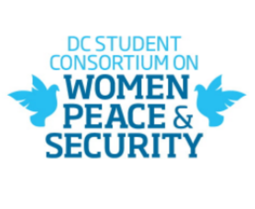 Decorative logo for the DC Student Consortium on Women, Peace and Security