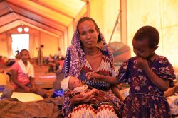 A photo of a woman and her child taken in April 2021 gives an idea of how the current crisis in Tigray has impacted women.