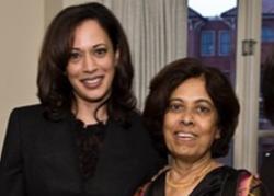 Kamala Harris and mother